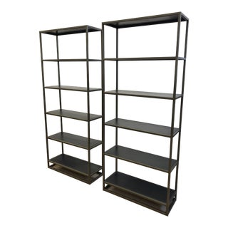 Pair of Crate & Barrel Remi Bookshelves For Sale