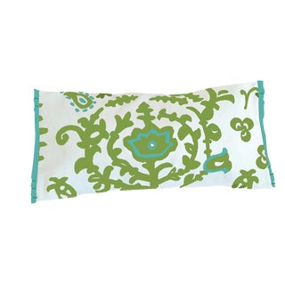 Green Ottoman Lumbar Pillow For Sale