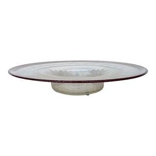 Oversize Salviati Glass Centerpiece For Sale