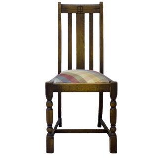 1930s American Oak Side Chair For Sale