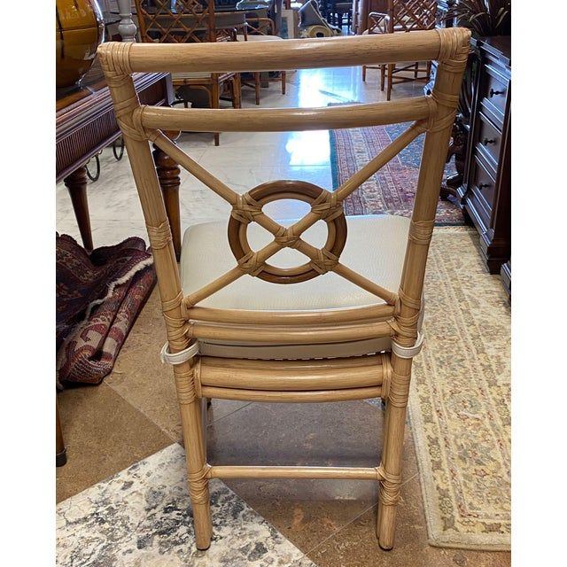 """McGuire """"Target"""" Rattan Dining Set - 5 Pieces For Sale In Tampa - Image 6 of 13"""