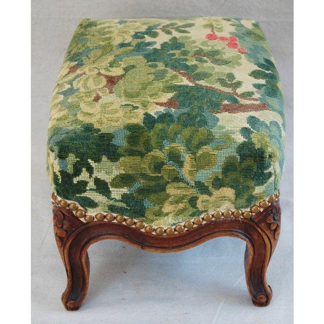 Vintage Italian Scalamandre Fabric Footstool - Image 5 of 10
