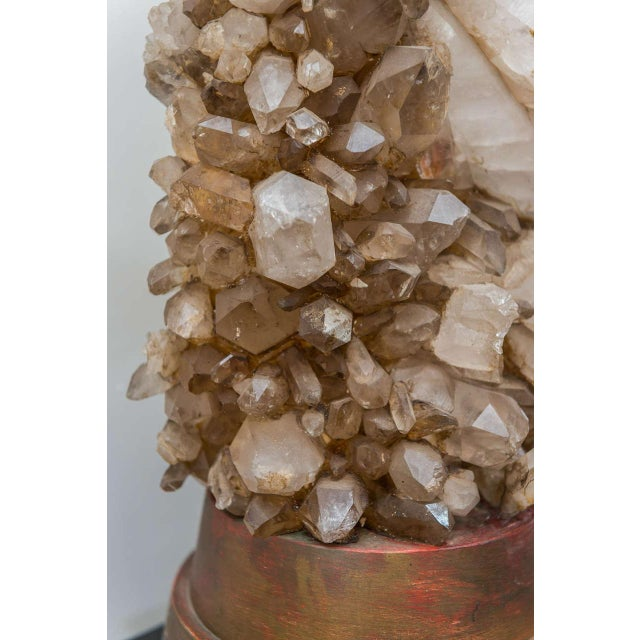 Crystal Carole Stupell Rock Crystal Lamp For Sale - Image 7 of 9