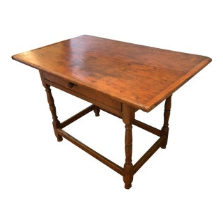 1920s Rustic Honey Pine Farm Side Table For Sale