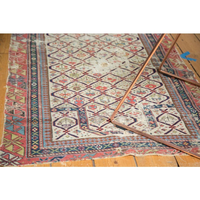 "Cottage Antique Fragmented Caucasian Prayer Square Rug - 2'10"" x 3'11"" For Sale - Image 3 of 10"