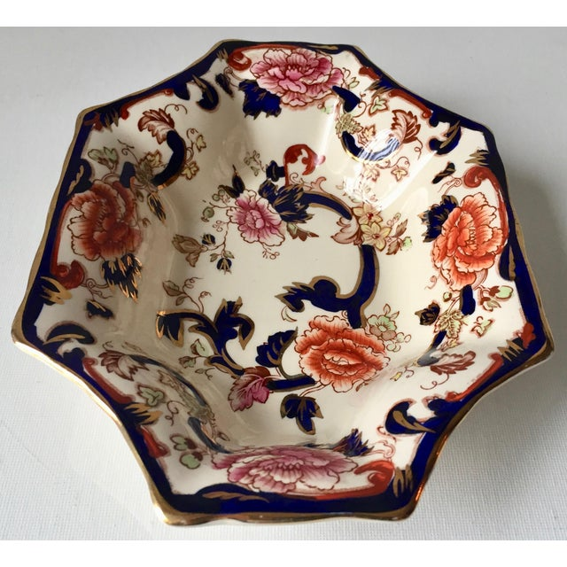 This beautiful vintage English ironstone fluted edge dish is made by Mason's and features the classic Gaudy Welsh...