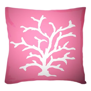 Dana Gibson Pink Coral Pillow For Sale