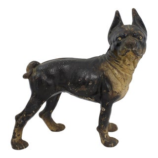 Antique French Bulldog Doorstop For Sale