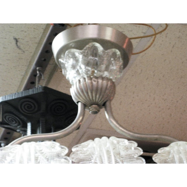 Very Large and Long Barovier E Toso Handblown, Frosted Glass Rectangular Chandelier For Sale - Image 10 of 10