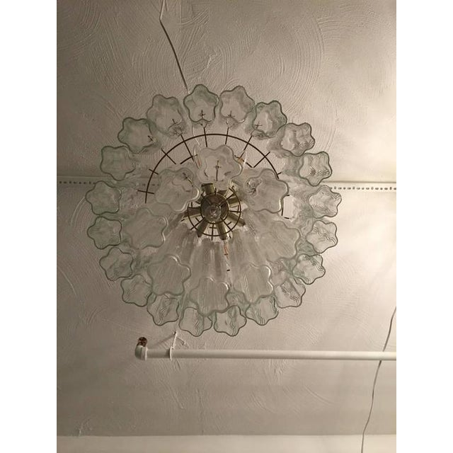 1960s Mid-Century Italian Tronchi Glass Chandelier For Sale - Image 5 of 7