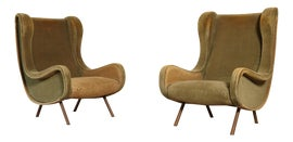Image of Brass Chair and Ottoman Sets