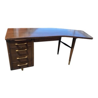Vintage Alma Mid Century Modern Boomerang Desk For Sale