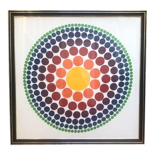 "1965 ""Roulette"" Circle Fabric Panel by Verner Panton For Sale"