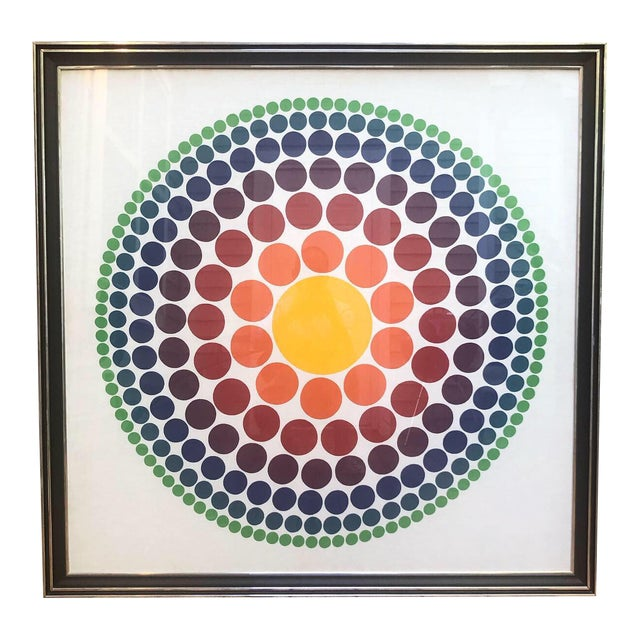 """1965 """"Roulette"""" Circle Fabric Panel by Verner Panton For Sale"""