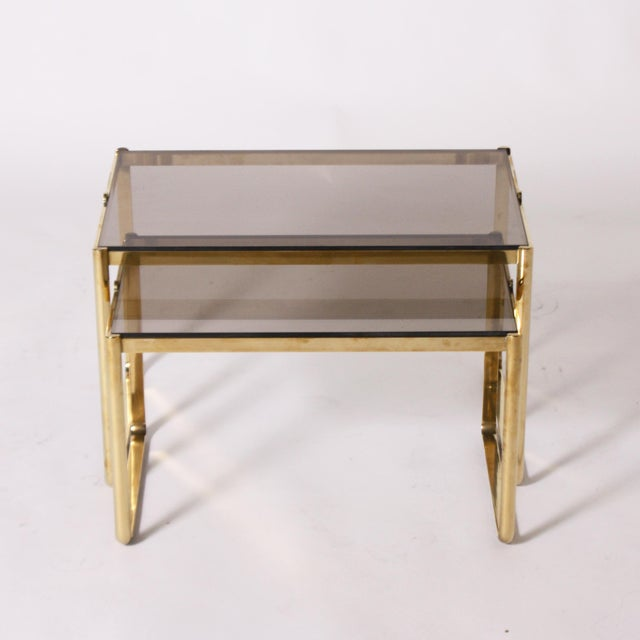 Bronze Nesting Tables by Jacques Quinet C. 1960 - Set of 2 For Sale In Dallas - Image 6 of 6