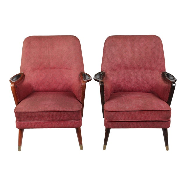 1960s Danish Modern-Style Armchairs - A Pair - Image 1 of 10