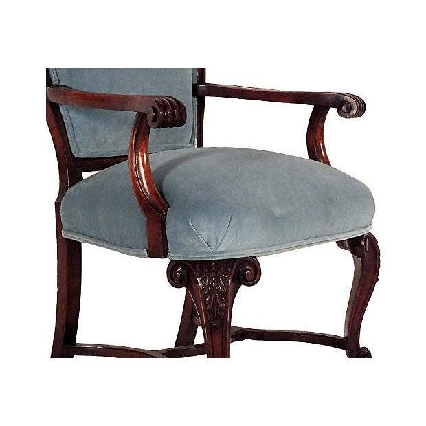 Regency Mahogany Open Armchairs - A Pair - Image 4 of 6