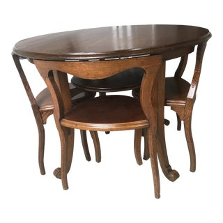 Mid Century Modern Dining Set - 5 Pieces For Sale