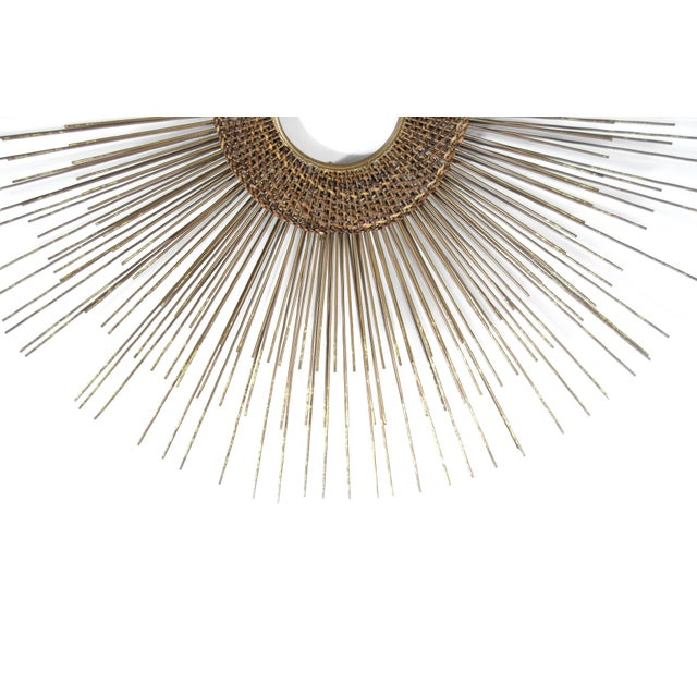 Metal 1950s Woven Sunburst Wall Sculpture For Sale - Image 7 of 9