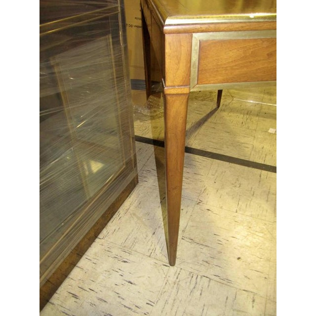 Very Chic Mid-century Mahogany & Brass Inlaid Writing Table - Image 7 of 10