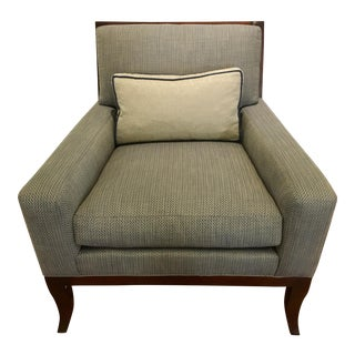 Modern Hickory Chair and Lumbar Pillow For Sale