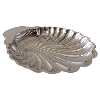 Silver-Plate Scalloped Shell-Shaped Server Dish