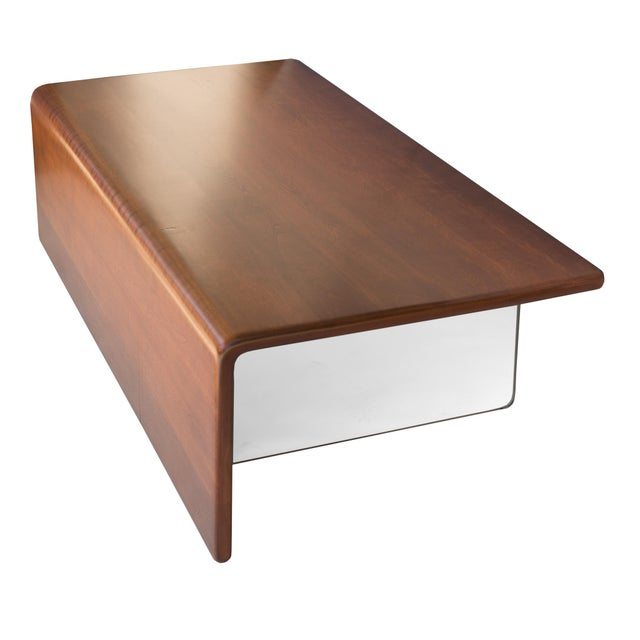 Rare Gerald McCabe Vintage Waterfall Coffee Table - Image 2 of 4