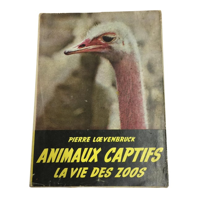 """Animaux Captifs French Zoos"" 1954 Book For Sale"