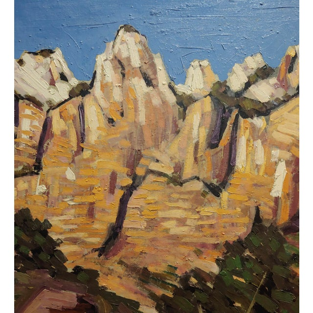 "Conrad Buff ""Rugged Cliffs Landscape"" Oil Painting For Sale - Image 4 of 9"