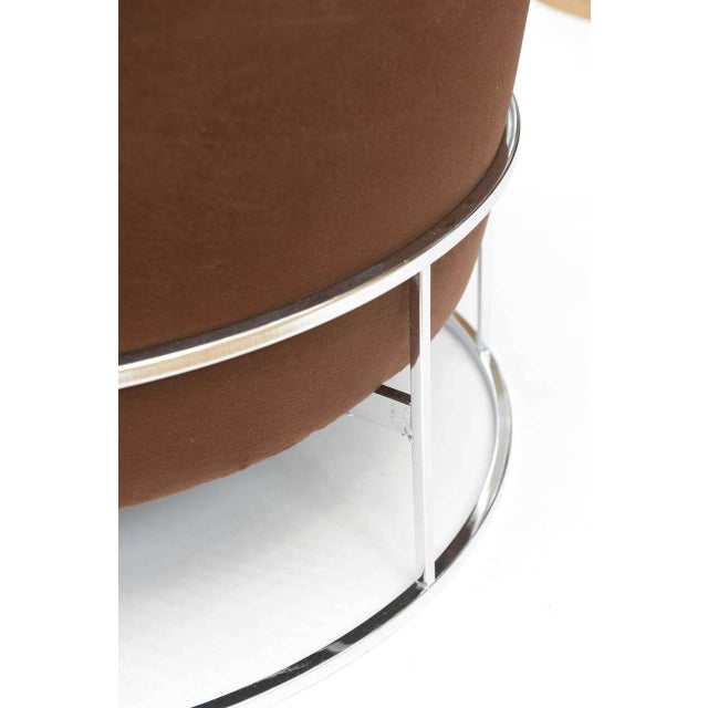Milo Baughman Barrel Back Chair For Sale In Miami - Image 6 of 11
