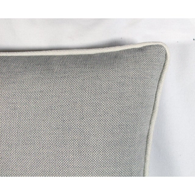 Grey & White Linen Textured Pillow - Image 3 of 4