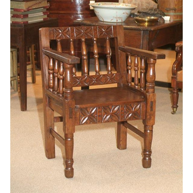 1860s Spanish Colonial Armchair For Sale - Image 4 of 5