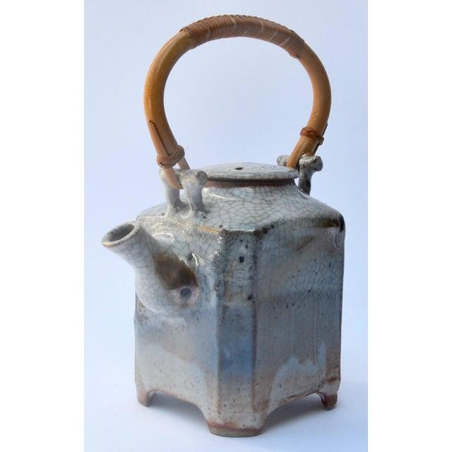 Bamboo Mid Century Art Studio Ceramic Teapot For Sale - Image 7 of 7