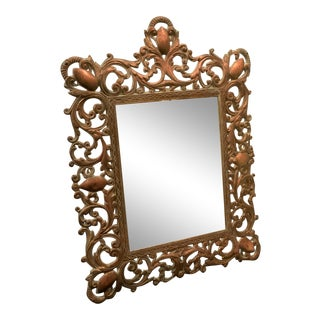 Cast Brass Mirror Table Mirror For Sale
