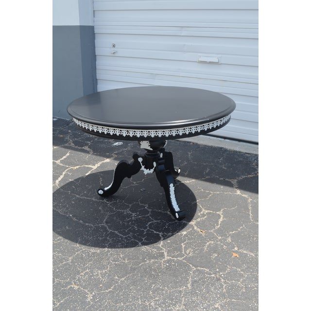 """1960s 1960s Vintage """"Tuxedo"""" Table For Sale - Image 5 of 11"""