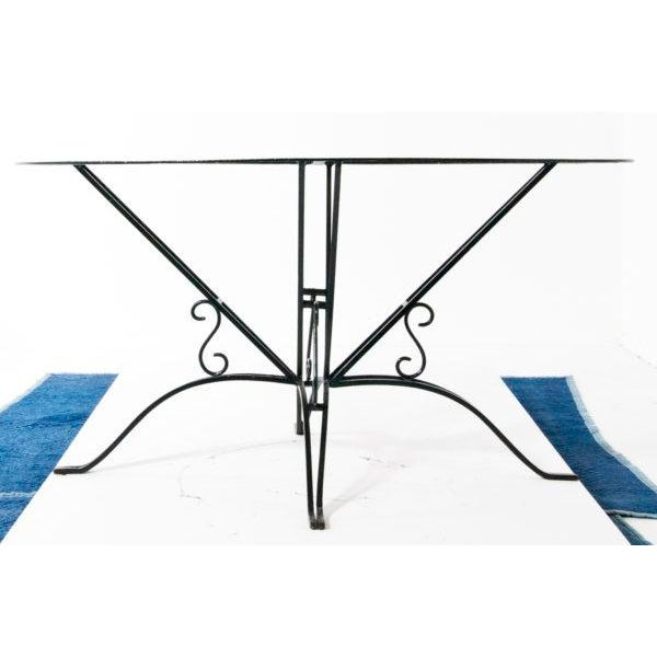 French Wrought Iron Garden Table For Sale - Image 3 of 7