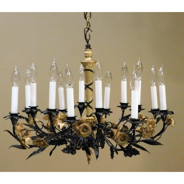 Neoclassical Style Foliate 14-Light Chandelier, France Circa 1905 For Sale - Image 4 of 9