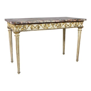 Italian Neoclassical Giltwood and Painted Console Table For Sale