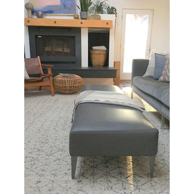 B & B Italia Italian Modern Leather Bench For Sale - Image 5 of 10