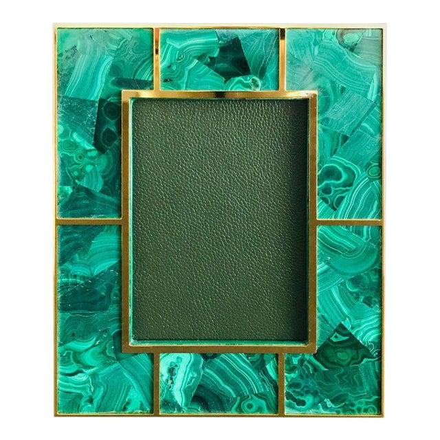 Malachite Photo Frame by Fabio Ltd For Sale