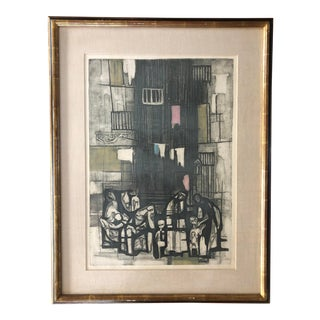 "Mid Century Etching by Ru Van Rossem ""Scenes From Southern Italy"" For Sale"
