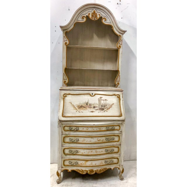 Hand Painted Venetian Secretary For Sale - Image 9 of 9