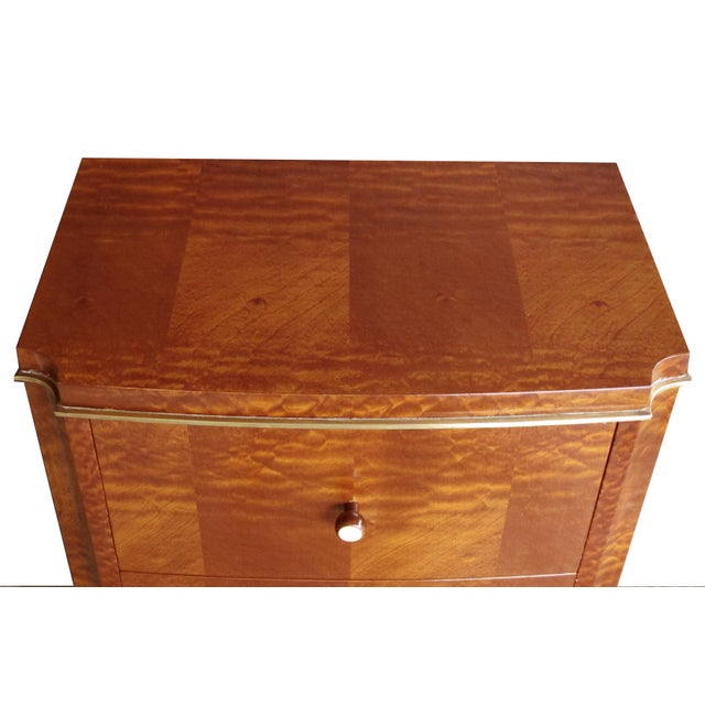 Art Deco Good Pair of French Art Deco Mahogany Two-Drawer Commodes For Sale - Image 3 of 3