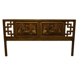 Chinoiserie Dixie Furniture King Size Headboard For Sale