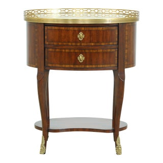 Maitland Smith French 8108-36 Marble Top Nightstand For Sale