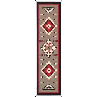 Contemporary Navajo Style Wool Runner Rug - 2′11″ × 12′ For Sale