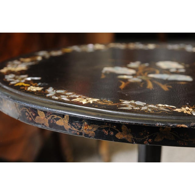 Late 19th Century Inlaid side table For Sale - Image 5 of 7