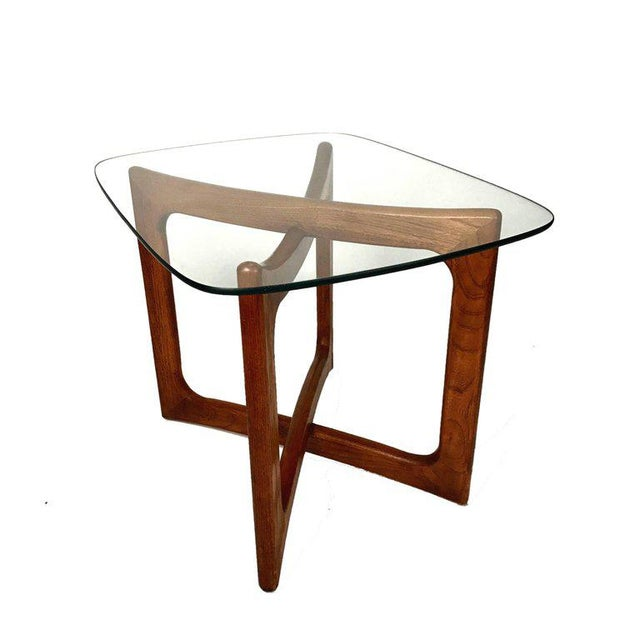 Sculptural Adrian Pearsall for Craft Associates Walnut and Glass Table For Sale In New York - Image 6 of 6