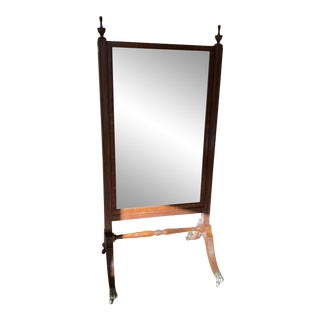 1810s Federal Cheval Floor Mirror For Sale