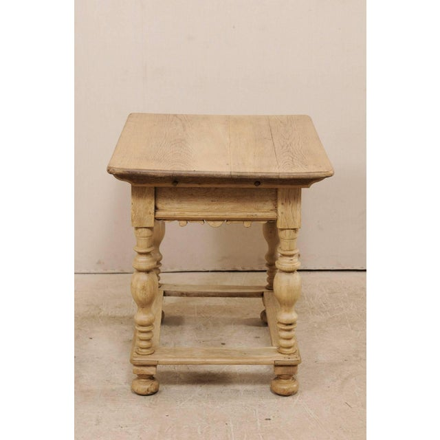 18th Century Swedish Period Baroque Wood Side Table on Turned Legs For Sale - Image 9 of 12